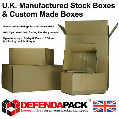 100 Cardboard POSTAL PACKING CORRUGATED POST BOXES A4 STORAGE MULTI CREASE BOX
