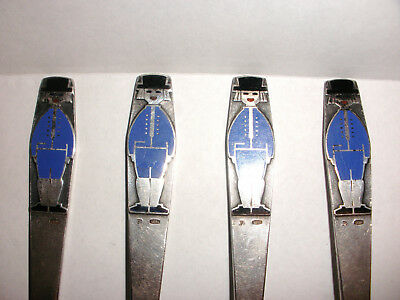 lot 4 Rare vintage Russian USSR silver 916 Children child enamel tea spoon 5.5""