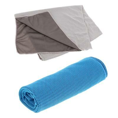 2Pcs Instant Cooling Towel Sports Gym Cycling Jogging Golfing Sweat Absorb