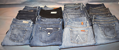 MEGA-LOT of 12 Womens Designer Jeans Size 29!  Citizens of Humanity, AG, Mankind