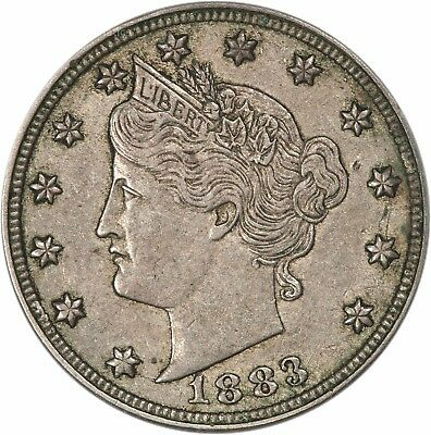 1883 No Cents Liberty Nickel - XF - Extremely Fine (3841.q9388)