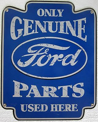 "Genuine Ford Parts Metal Sign ( 18"" by 14"" )"