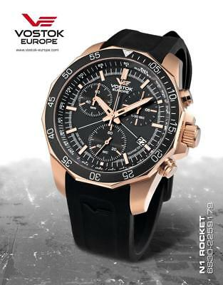 Vostok Europe N1 Rocket Chrono Quartz Gold/Gold Watch 6S30/2259179S