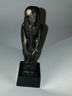 Antique Egyptian statuette of Taweret, goddess of fertility and childbirth