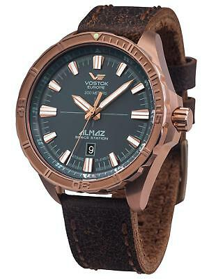 Vostok Europe ALMAZ Space Station Bronze Automatic Bronze/Brown Watch NH35A/320O