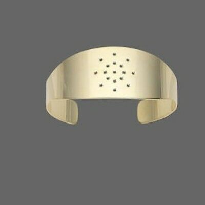 1 Gold Plated Brass Cuff Bracelet Base with Holes for Beading