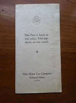 Pilot Motor Car Sales Brochure, The Coupe, Pilot Six-Fifty Coupe, Original Item