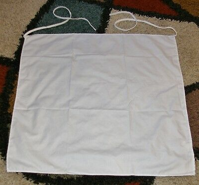 "6 piece White Bartender Chef Apron Size 27"" x 27"" 65% Polyester 35% Cotton"