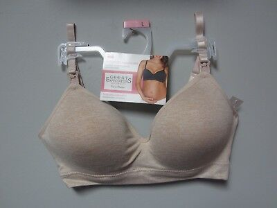 Great Expectations Maternity Seamless Nursing Beige Rose Bra Size L