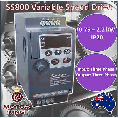 Three Phase 0.75 1.5 2.2 kW Super Mini VSD VFD Variable Speed Drive Compact