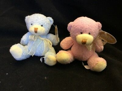 NEW 10cm Soft Teddy Bear Blue Pink Toy Baby Gift Plush Animal