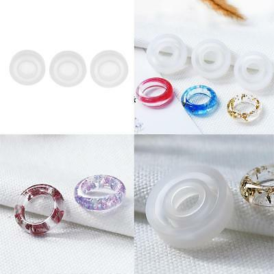 3pcs 16/17/18mm Silicone Handcraft Resin Ring Mold Casting Jewelry Rings DIY