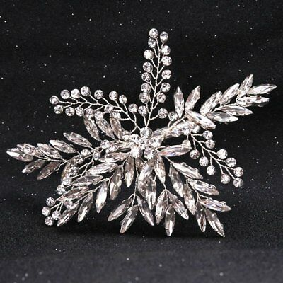 Bridal Wedding Rhinestone Crystal Hair Headband Crown Comb Tiara Prom Pageant US