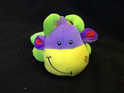 NEW 16cm Soft Small Cow Toy Purple Yellow Baby Gift Plush Born Animal Tolo