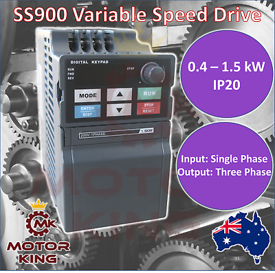 Single Phase 0.4 0.75 1.5 kW Mini VSD VFD Variable Speed Drive Inverter Compact