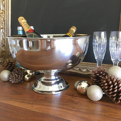 Silver Champagne Bucket/TUB/Wine Cooler/Ice Bucket/Metal/Grand Reserve