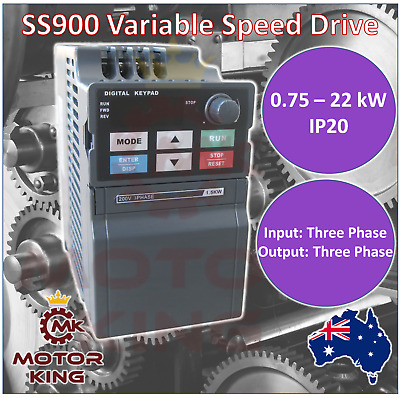 Three Phase 0.75 to 22 kW Mini VSD VFD Variable Speed Drive Inverter Compact