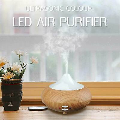 Ultrasonic Humidifier Colour Led Oil Aroma Diffuser Aromatherapy Air Purifier UK