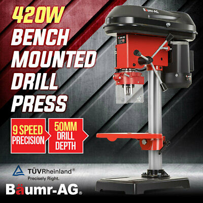 Baumr-AG 420W Drill Press Pedestal Benchtop Bench Stand Pillar Variable Speed