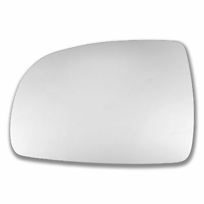 Left Passenger Side WING DOOR MIRROR GLASS For Nissan Note 2004-2012 Stick On