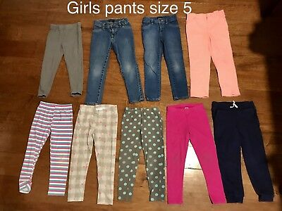 Lot Of Girls Size 5 Pants (9pcs)