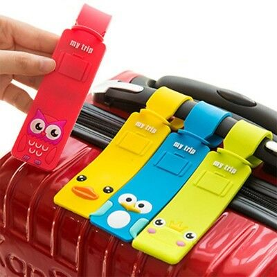 Silicone Cartoon Travel Luggage Tags Baggage Suitcase Bag Labels Name Address