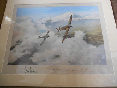 DUEL OF EAGLES personally signed print - DOUGLAS BADER and ADOLF GALLAND