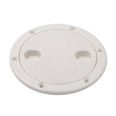"Marine Boat RV White 4"" 'Access Hatch Cover Twist Screw Out Deck Plate"