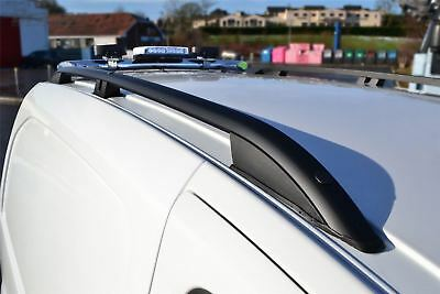To Fit 2007 - 2016 Fiat Scudo LWB Polished Aluminium Black Metal Roof Rails Rack