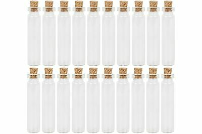 Mini Glass Bottle Jar Vial With Cork Stopper 5ml 12x50mm Storage Display Charms