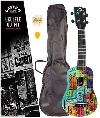 The Cavern Club - The Wall - Ukulele Outfit (CVUK01)