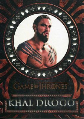 Game Of Thrones Valyrian Steel Laser Cut Chase Card LC15 Khal Drogo
