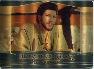 Game Of Thrones Valyrian Steel Gold [100] Metal Base Card #79 Hizdahr zo Loraq