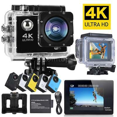 "4K Ultra HD WiFi 16MP 2"" LCD Wasserdicht Sports ActionCam Kamera Helm Camcorder"
