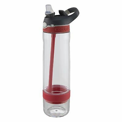 Contigo AUTOSPOUT Ashland Straw Water Bottle 26oz Watermelon Pink Fruit Infuser