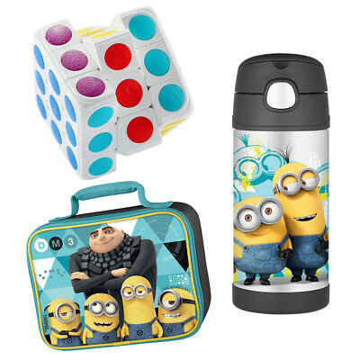 Thermos FUNtainer Drink Bottle Despicable Me 3 Lunch Kit w/ Brain Teaser Toy