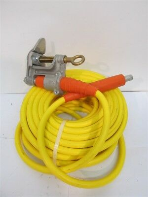 "Salisbury 60' 1/0 Grounding Cable - 24410, 1.25"" C-Clamp and 1/0 Ferrule Ends"