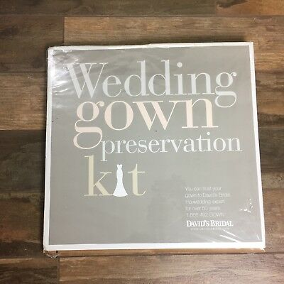 NIP DAVIDS BRIDAL Wedding Dress Gown Preservation Kit Storage $189 UNOPENED
