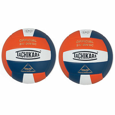 Tachikara SV5WSC Sensi-Tec Composite Volleyball (Orange, Wht, Navy)