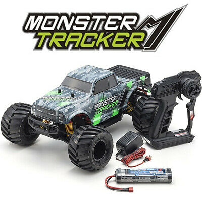 Kyosho 34403T1B Monster Tracker 1/10 2WD Monster Truck Green Ready To Run