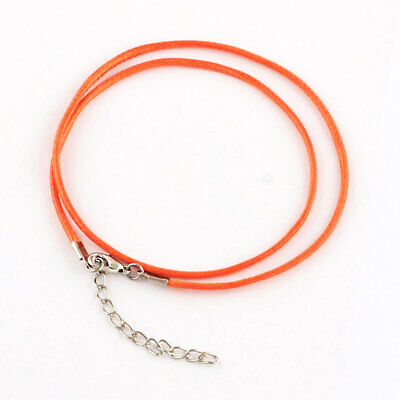 """BULK 25 Wax Cord Necklaces 18/"""" with Extender Basic Jewelry Maker Supply N084"""