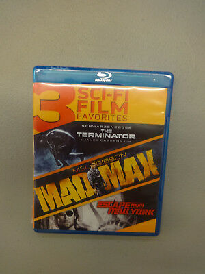 3 Sci-Fi Film Favorites: The Terminator/Mad Max/Escape from New York (Blu-ray)