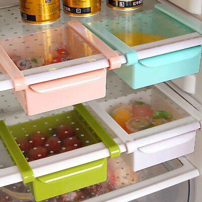 Refrigerator Shelf Pull-out Drawer Slide Fridge Storager Rack Holder For Kitchen