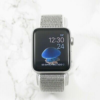 Apple Watch Series 3 42mm Silver Aluminium Case with Silver Nylon Loop GPS