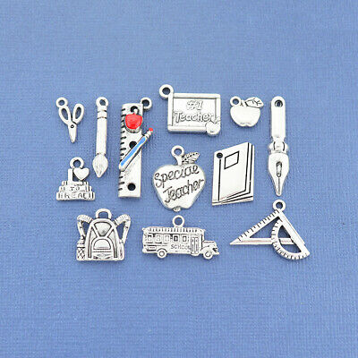 COL187 Barnyard Charm Collection Antique Silver Tone 12 Different Charms