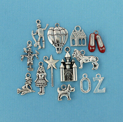 Wizard of Oz Charm Collection Antique Silver Tone 13 Charms - COL272