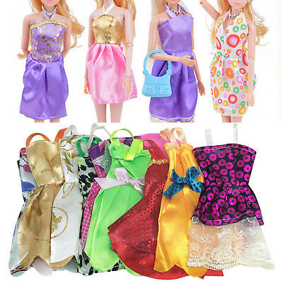 10PCS Fashion Handmade Dresses Clothes For Barbie Doll Style Random Gift Set SM