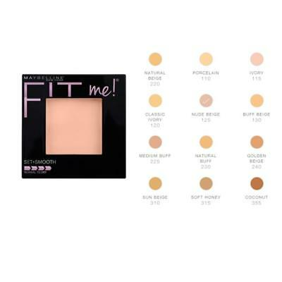 Maybelline Fit Me Set & Smooth Pressed Powder Foundation - Choose Your Shade