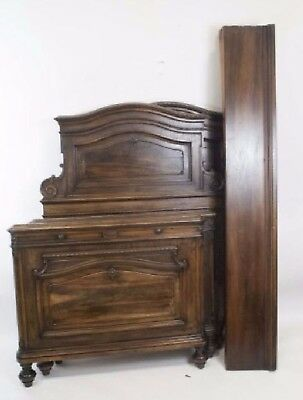 Pair Of Heavy Vintage Antique Continental Carved Single Beds