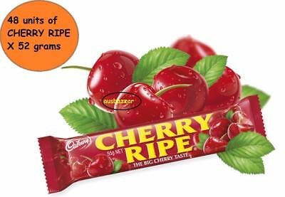 48 x Cadbury Cherry Ripe Milk Chocolate Medium Bars 52g - 2.49Kg Bulk Wholesale